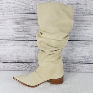 NEW CL Western Cowboy Slouch Suede Knee Boots
